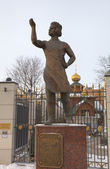 Monument of Levsha (the Lefthander), Russian folk craftsman, hero of story by Nikolai Leskov. Tula, Russia — Stock Photo
