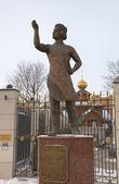 Monument of Levsha (the Lefthander), Russian folk craftsman, hero of story by Nikolai Leskov. Tula, Russia — Stock Photo