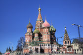 Cathedral of the Protection of Most Holy Theotokos on the Moat (Saint Basil's Cathedral). Red square, Moscow, Russia — Stock Photo