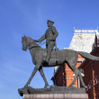 Постер, плакат: The monument to marshal of the Soviet Union Georgy Zhukov in Moscow Russia