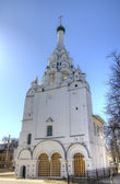 Bell tower of Church of the Nativity of Christ. Yaroslavl, Russia — Stock Photo