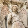 Smiling angel. Notre-Dame de Reims Cathedral. Reims, France — Stock Photo #46502347