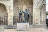 Epiphany St Remigy of the king Hlodvig (1896). Abbey Saint-Remi. Reims, France — Photo