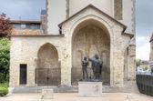 Epiphany St Remigy of the king Hlodvig (1896). Abbey Saint-Remi. Reims, France — Stockfoto