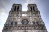 The Notre dame de Paris church. Paris, France — Stock Photo