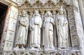 The Notre dame de Paris church. Decoration elements. Paris, France — Stock Photo