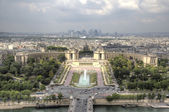 View of Paris from Eiffel Tower. Paris, France — Foto de Stock