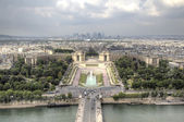 View of Paris from Eiffel Tower. Paris, France — Стоковое фото
