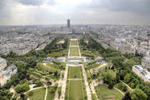 View of Paris from Eiffel Tower. Paris, France — Stock Photo