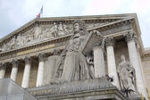 Statue near National Assembly. Paris, France — Stock Photo