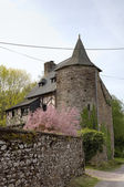 Ancient house in Paimpont. Broceliande, France. — Stock Photo