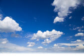 Cloudy blue sky background — Stock Photo