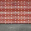 Modern brick wall and concrete floor — Stock Photo