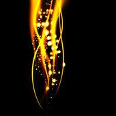 Abstrakt brinnande linjer på en svart bakgrund med spce för text — Stockfoto