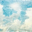 Textured vintage cloudy sky background — Stock Photo