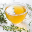 Herbal tea. Thyme — Stock Photo