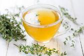 Herbal tea. Thyme — Stock Photo