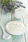 Sour cream — Stock Photo