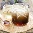 Honey in a jar — Stock Photo