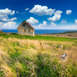 Landscape with cottage — Stock Photo