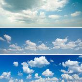 Conjunto de fondos de cielo — Foto de Stock