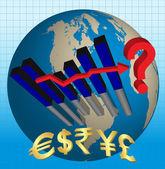 Crise econômica mundial — Vetor de Stock