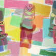 Totem Colorful Cubism Background — 图库照片