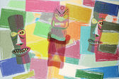Totem Colorful Cubism Background — Stock Photo