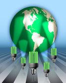 Save Energy Illustration — Stock Photo