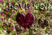 Love Heart of Flowers — Stock Photo