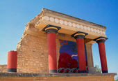 Knossos palace at Crete, Greece — Stock Photo