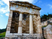 Athenian treasury, Delphi, Greece — Stok fotoğraf