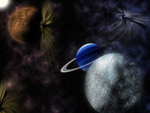 Stars and planets — Stock Photo