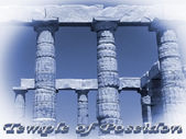 Temple of Poseidon in Sounio Greece — Stockfoto