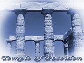 Temple of Poseidon in Sounio Greece — Foto de Stock