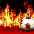 Burning Soccer Ball — Stock Photo