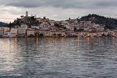 Poros Island at dusk, Greece — Stock Photo