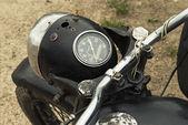 Old black motorcycle — Stock Photo