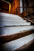 Concrete Stairs in brick stairwell — Stock Photo
