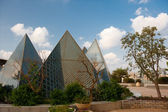 The glass pyramid on the roof — Стоковое фото