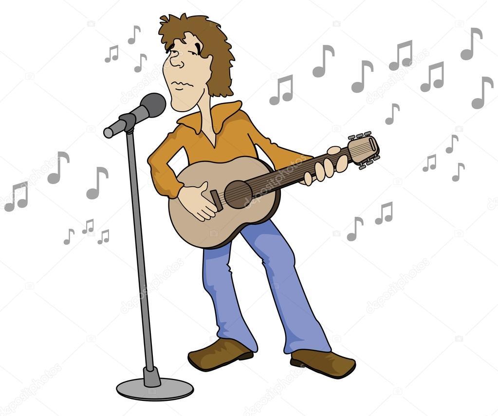 Cartone animato cantante — vettoriali stock gleighly