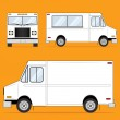 Food Truck Blank — Stock Vector