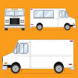 Food Truck Blank - Stock Vector
