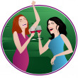 Girls Night Out — Stock Vector