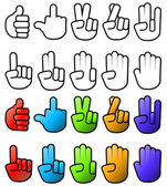 Various Hand SIgn Gesture Icons — Stock Vector