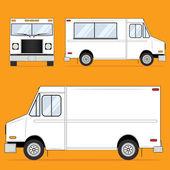 Caminhão de comida em branco — Vetorial Stock