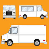 Food Truck Blank — Stock Vector