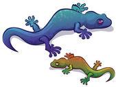 Colorful Lizard — Stock Vector
