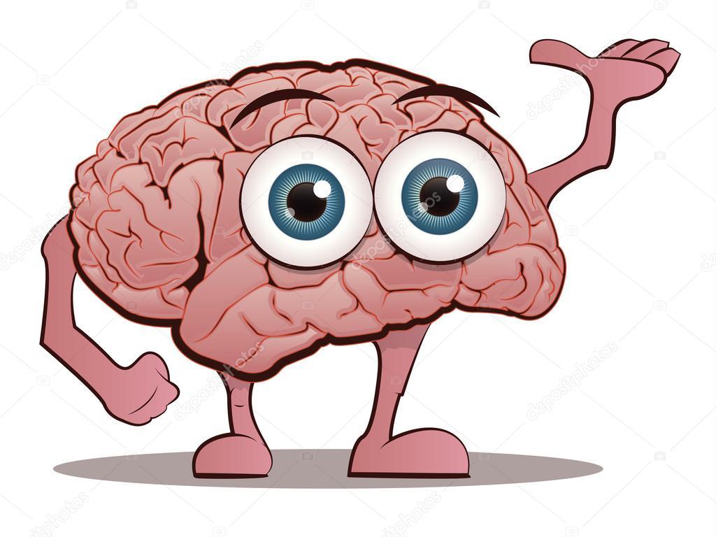 Cute Brain Character w...