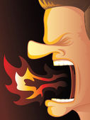 Angry Breath — Stock Vector
